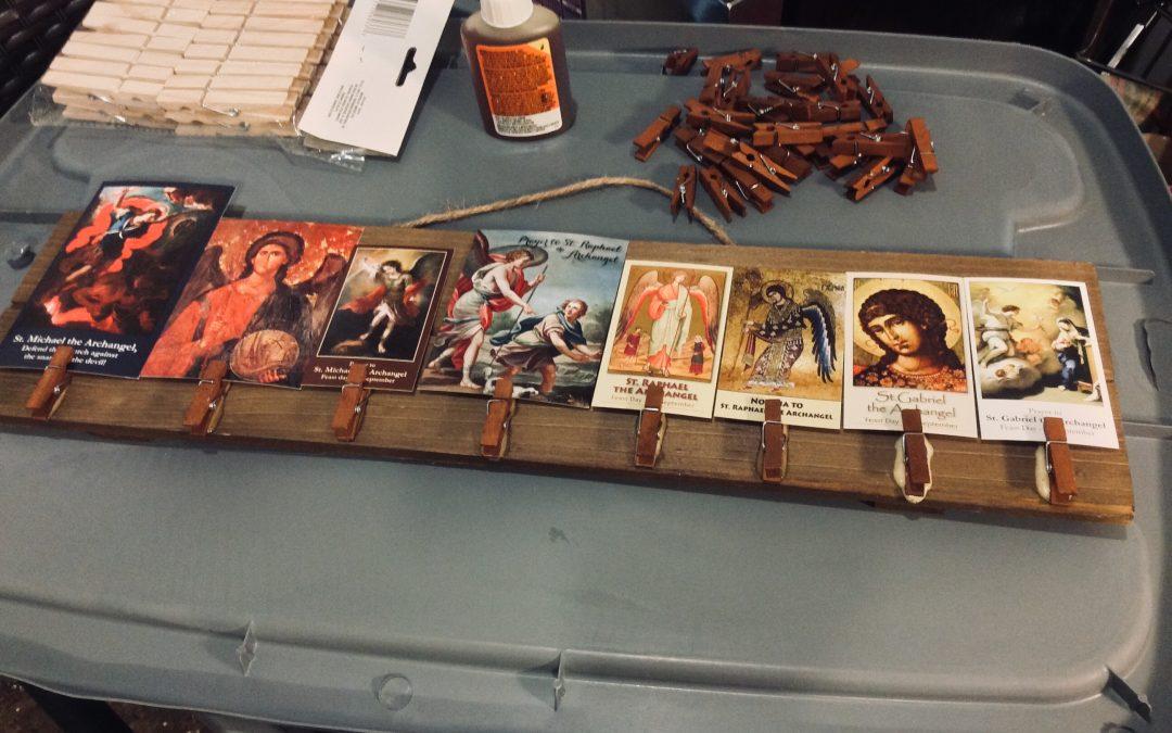 Displaying and Praying: Prayer Cards & Clothes Pins
